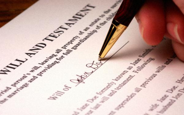 The importance of making a Will.
